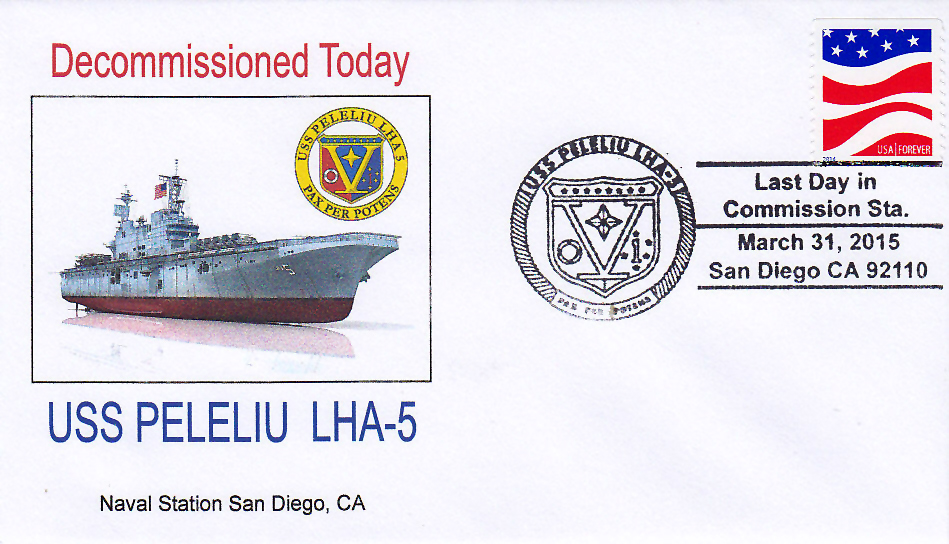 Beleg USS PELELIU LHA-5 Decommissioning San Diego