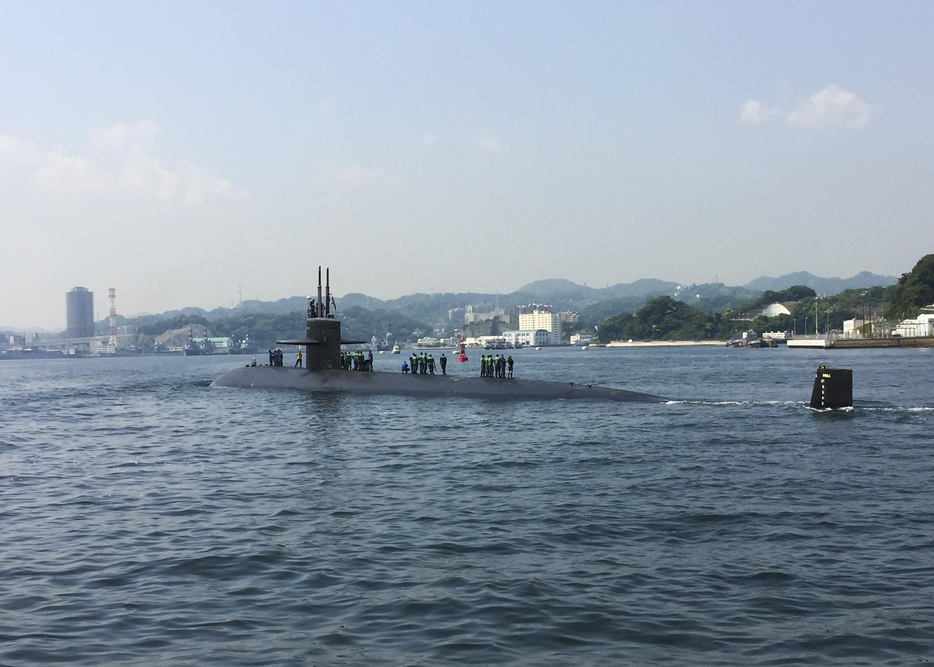 USS HOUSTON SSN-713 am 08.05.2015 in der Bucht von Tokyo Bild: U.S. Navy