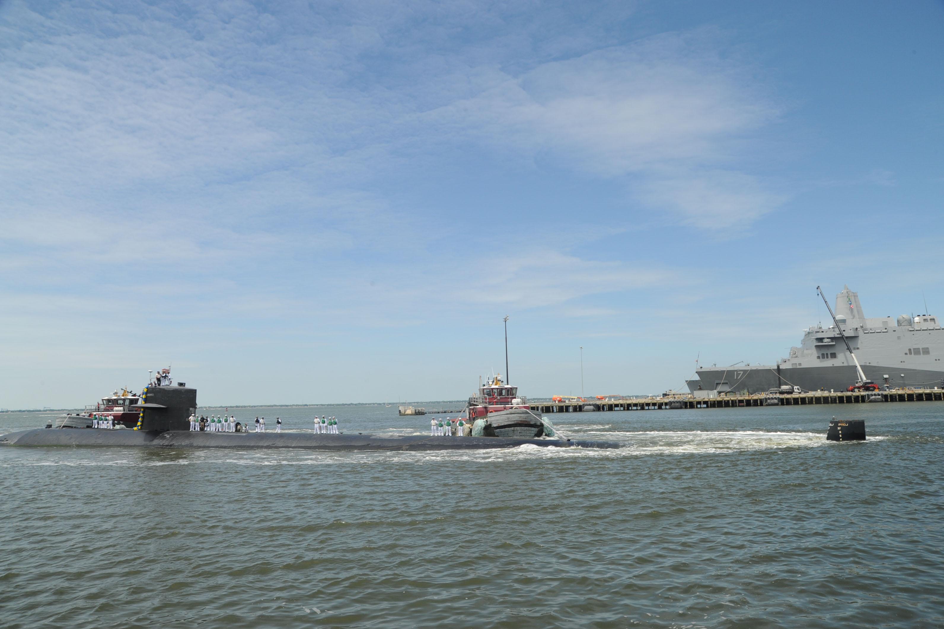 USS HELENA SSN-725 Einlaufen Norfolk am 15.05.2015 Bild: U.S. Navy