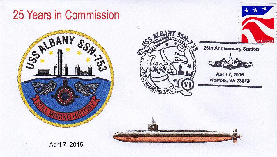 Beleg USS ALBANY SSN-753  25 Jahre im Dienst