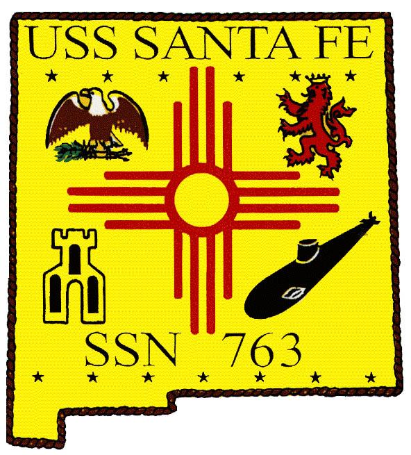 USS SANTA FE SSN-763 Crest Grafik: U.S. Navy