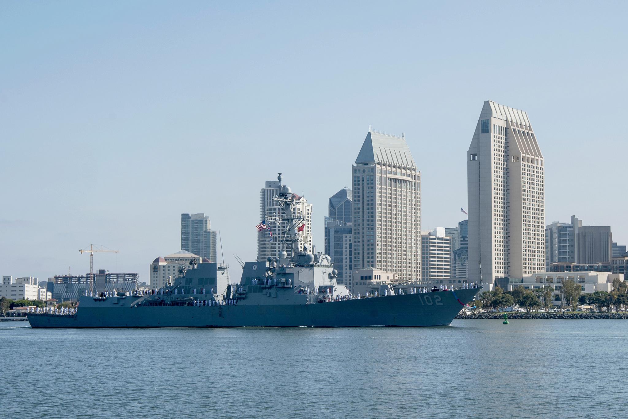 USS SAMPSON DDG-102 Einlaufen San Diego am 01.06.2015 Bild: U.S. Navy