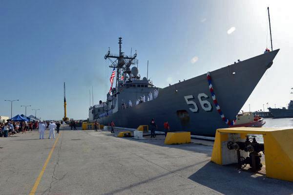 USS SIMPSON FFG-56 Einlaufen Mayport am 14.06.2015 Bild: U.S. Navy