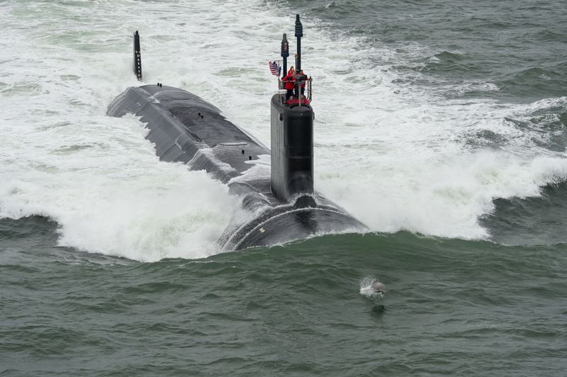 USS JOHN WARNER SSN-785 First Sea Trials Bild: U.S, Navy