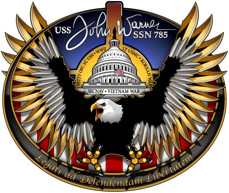 USS JOHN WARNER SSN-785 Crest Grafik: U.S. Navy