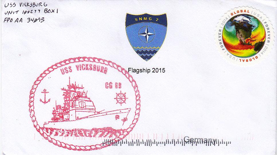 Beleg USS VICKSBURG CG-69 SNMG-2 2015