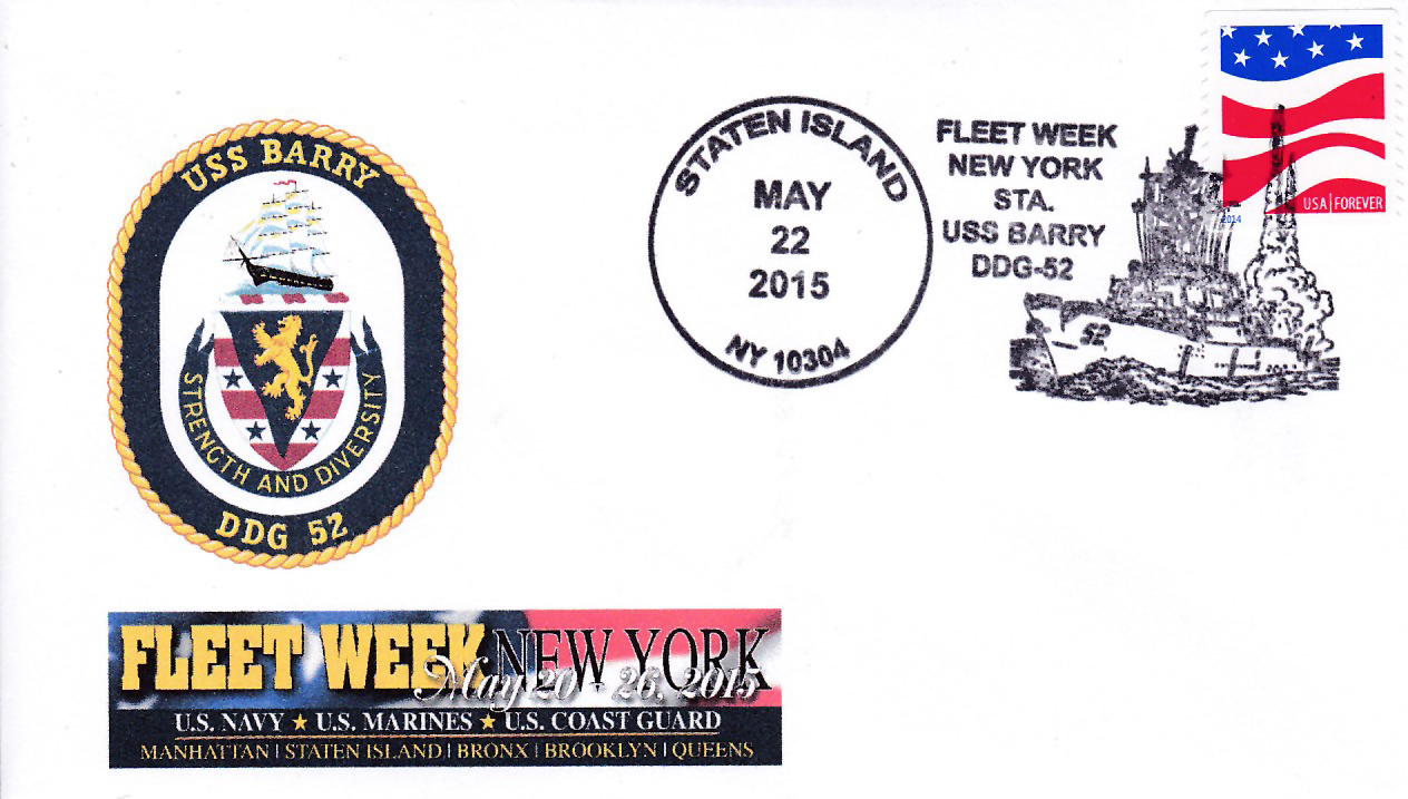 Beleg USS BARRY DDG-52 Fleet Week New York von Karl Friedrich Weyland