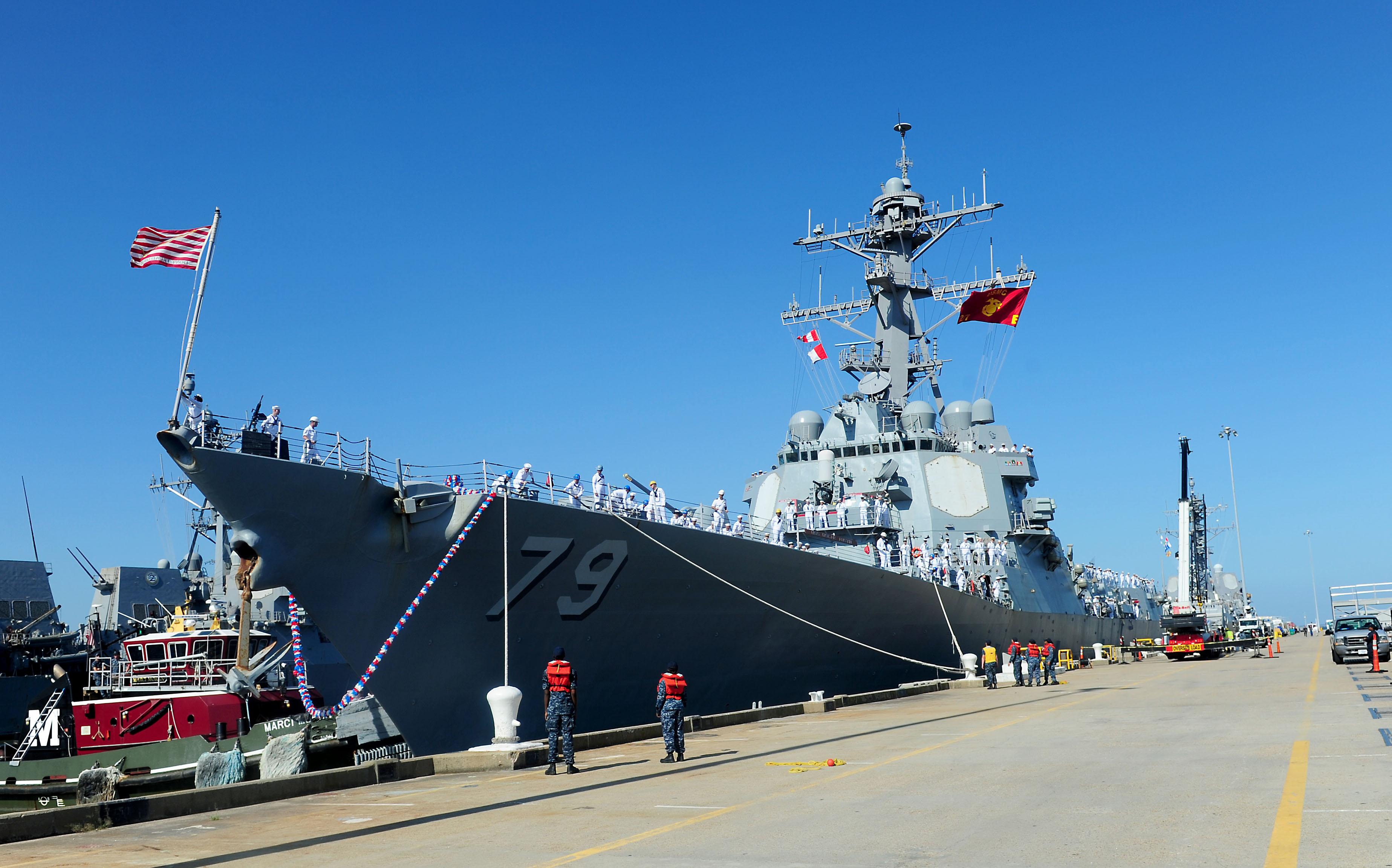 USS OSCAR AUSTIN DDG-79 Ankunft Norfolk am 10.07.2015 Bild: U.S. Navy