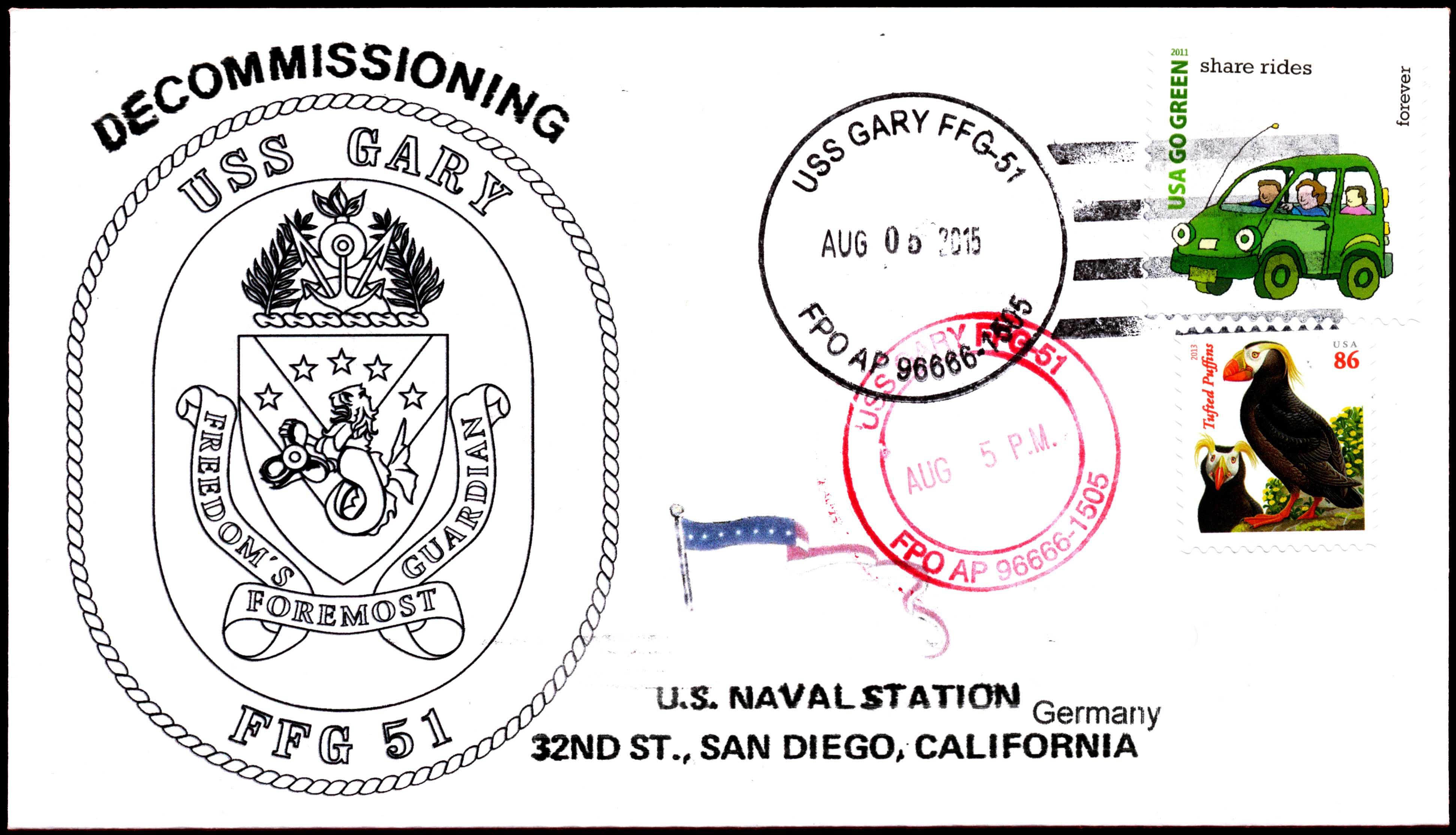 Beleg USS GARY FFG-51 Außerdienststellung von Wolfgang Hechler