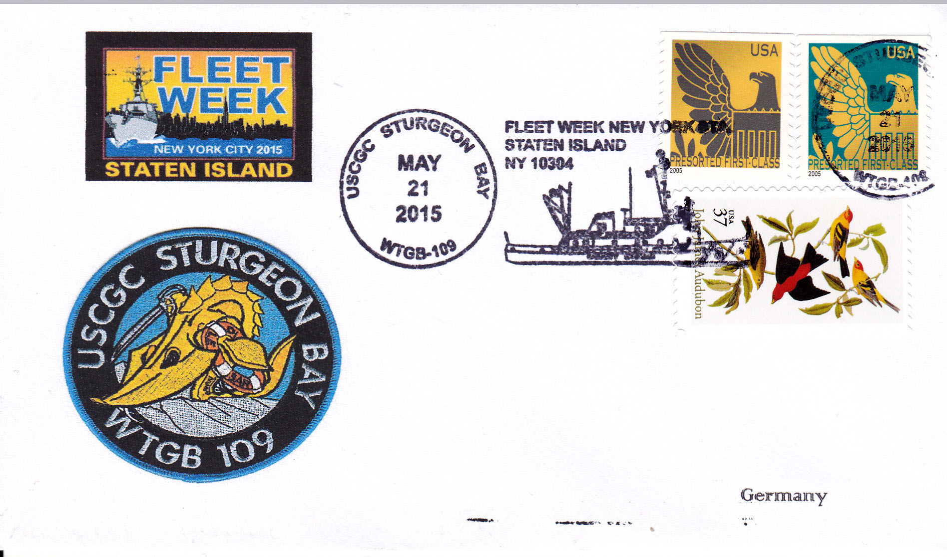 Beleg USCGC STURGEON BAY WTGB-109 Fleet Week New York von Heinz Grasse