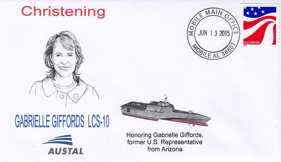 Beleg USS GABRIELLE GIFFORDS LCS-10 Christening