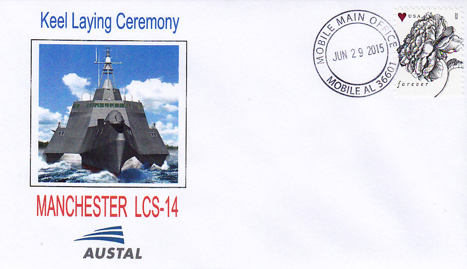Beleg USS MANCHESTER LCS-14 Keel Laying