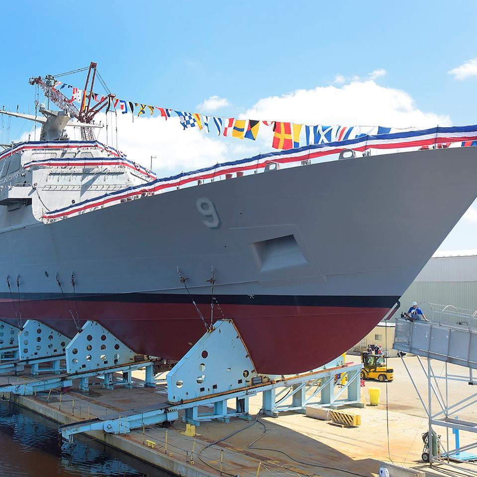 USS LITTLE ROCK LCS-9 Vorbereitung zum Stapellauf Bild: Lockheed Martin