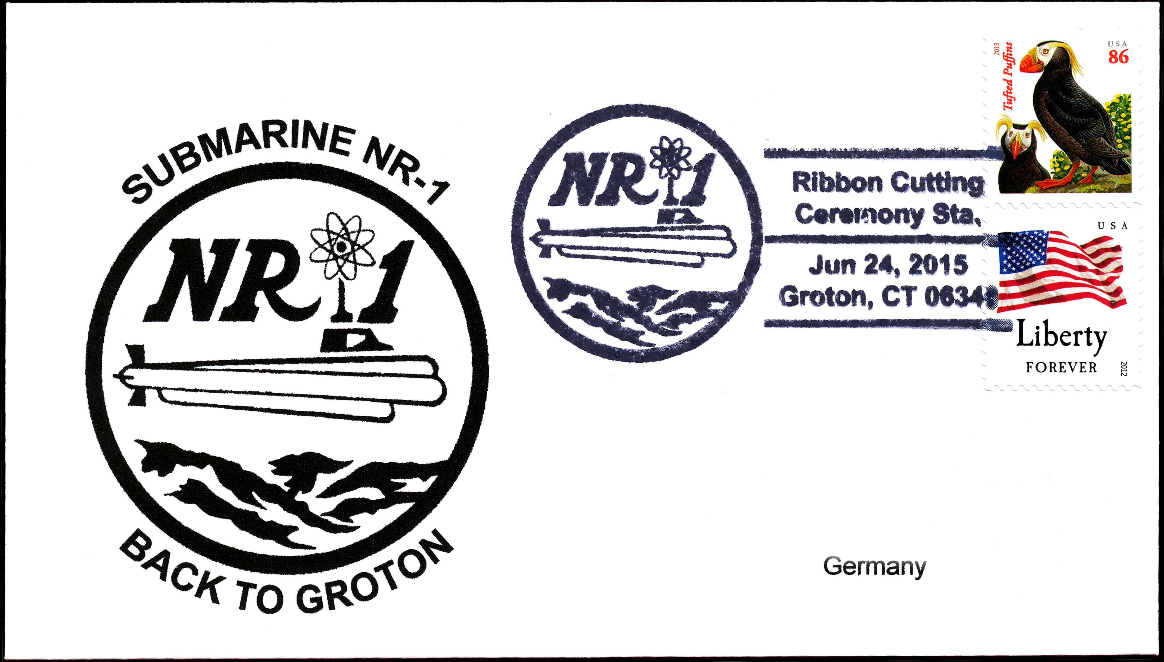 Beleg Submarine NR-1 mit Sonderpoststempel Groton von Wolfgang Hechler