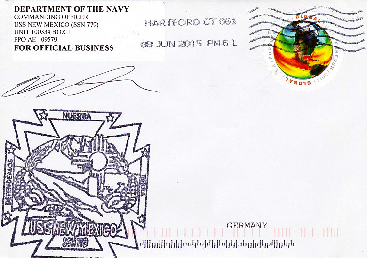 Beleg USS NEW MEXICO SSN-779 vom 08.06.2015 von Daniel Gornig