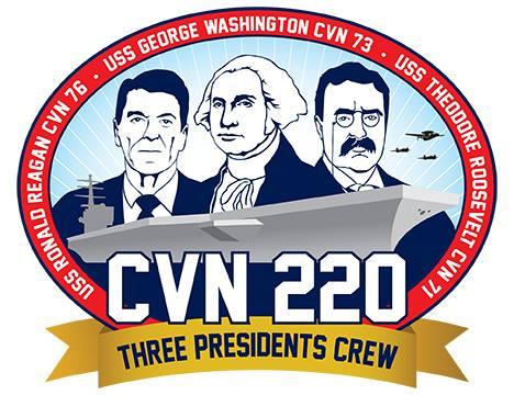 Logo Three Presidents Crew CVN-220 Grafik: U.S. Navy