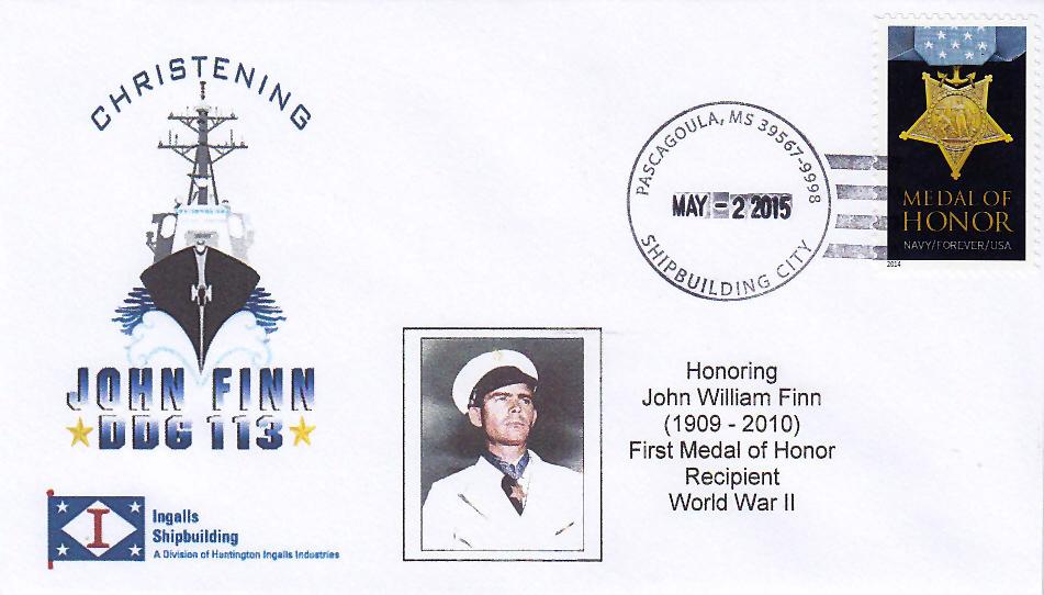 Beleg USS JOHN FINN DDG-113 Christening