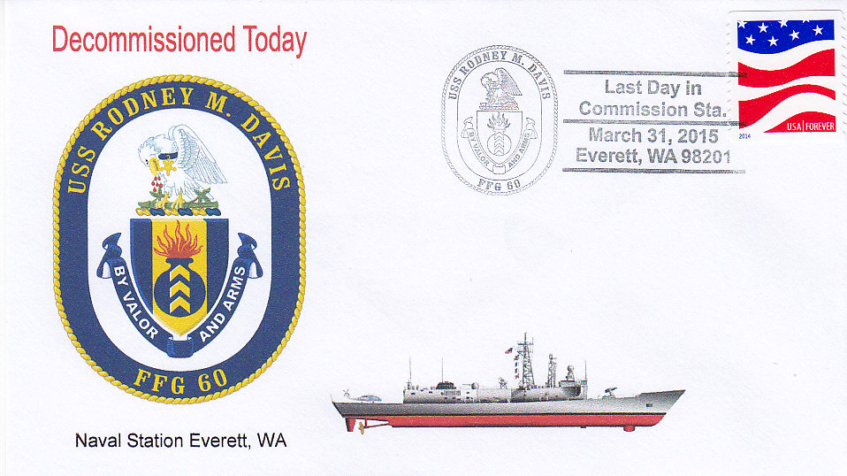 Beleg USS RODNEY M. DAVIS FFG-60 Decommissioning