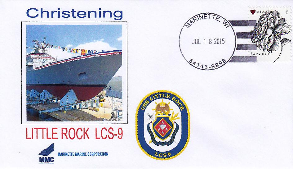 Beleg USS LITTLE ROCK LCS-9 Christening
