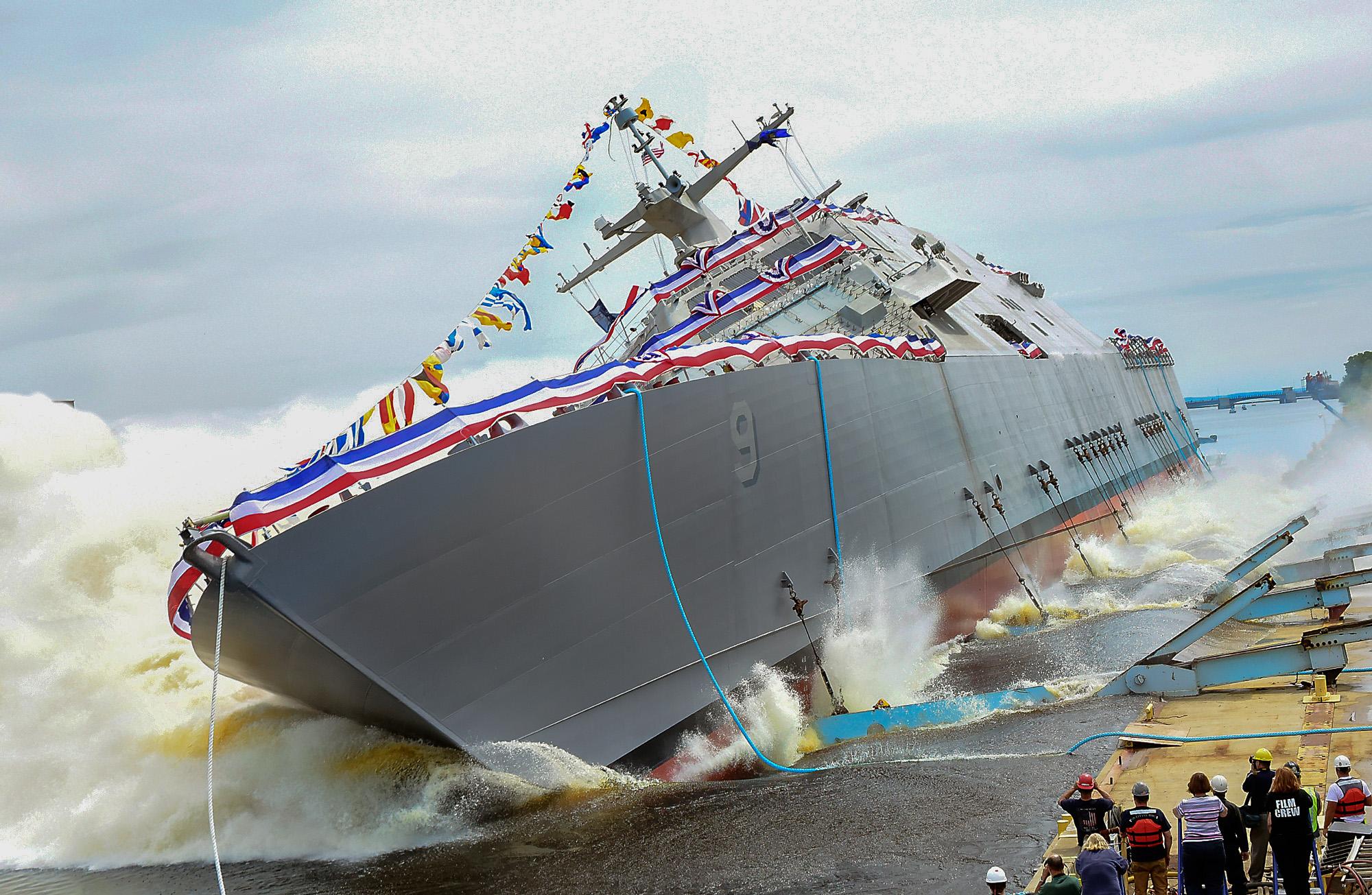 USS LITTLE ROCK LCS-9 Stapellauf Bild: Lockheed Martin