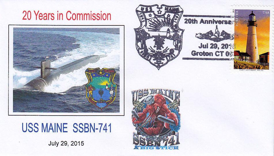 Beleg USS MAINE SSBN-741  20 Jahre im Dienst