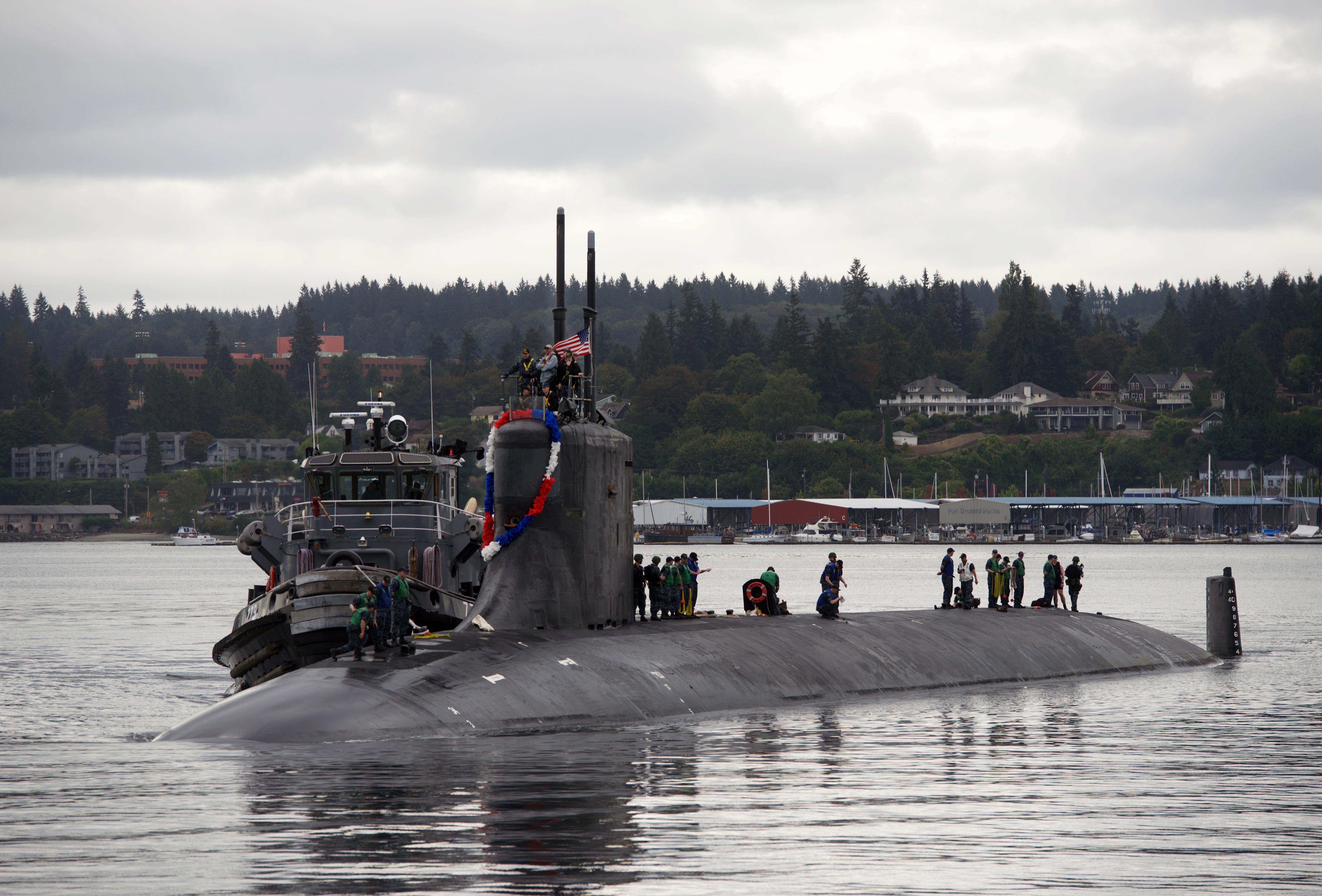 USS SEAWOLF SSN-21 Einlaufen Bremerton am 21.08.2015 Bild: U.S. Navy
