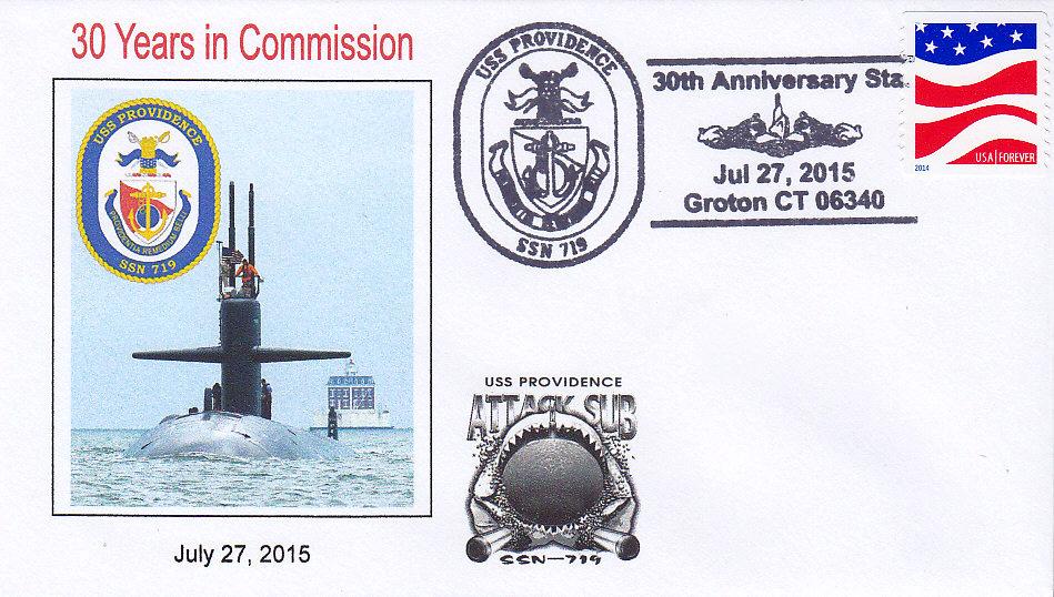 Beleg USS PROVIDENCE SSN-719  30 Jahre im Dienst