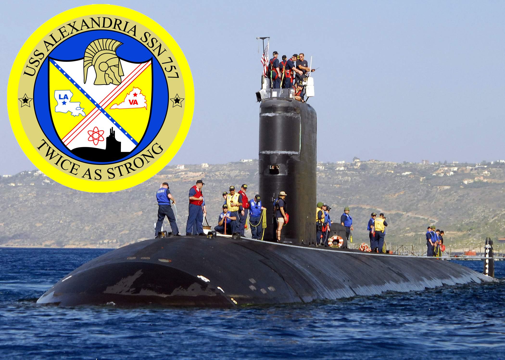 USS ALEXANDRIA SSN-757 Bild und Grafik: U.S. Navy