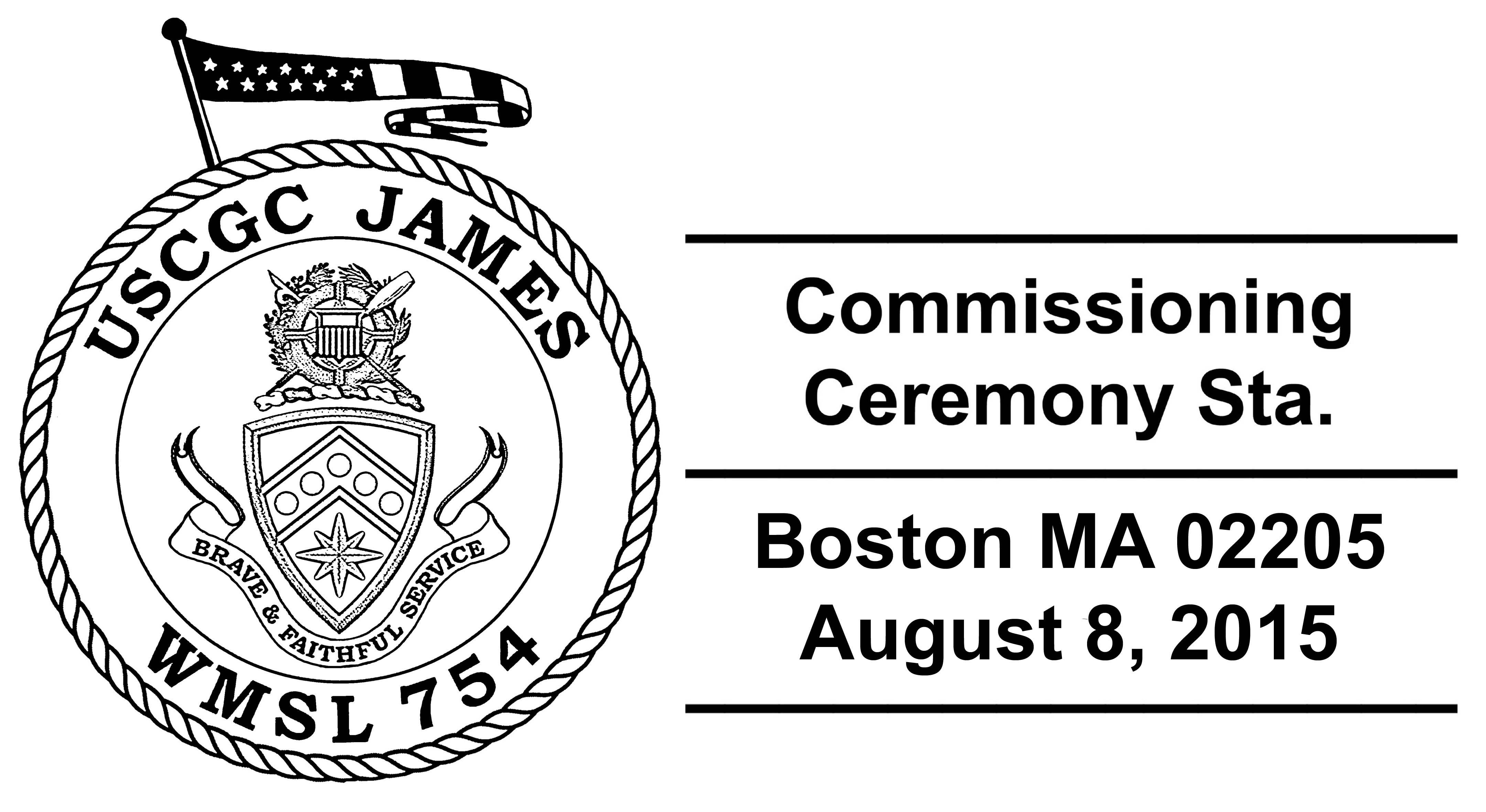 USCGC JAMES WMSL-754 Commissioning Sonderpoststempel Design: Wolfgang Hechler