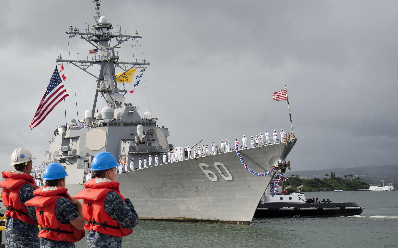 USS PAUL HAMILTON DDG-60 Einlaufen Pearl Harbor am 29.09.2015 Bild: U.S. Navy
