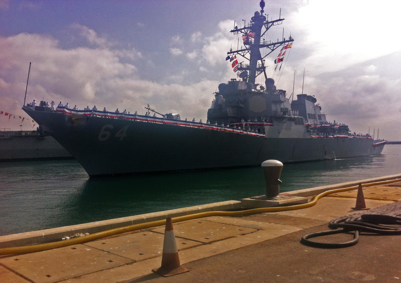 USS CARNEY DDG-64 Einlaufen Rota am 25.09.2015 Bild: U.S. Navy