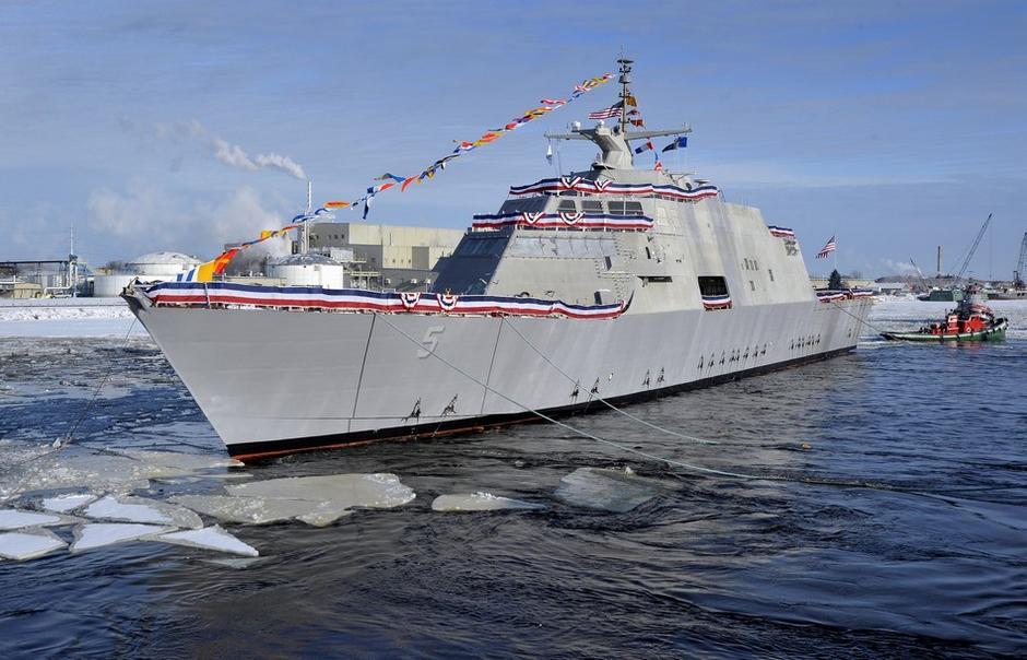 USS MILWAUKEE LCS-5 nach der Taufe Bild: Lockheed Martin