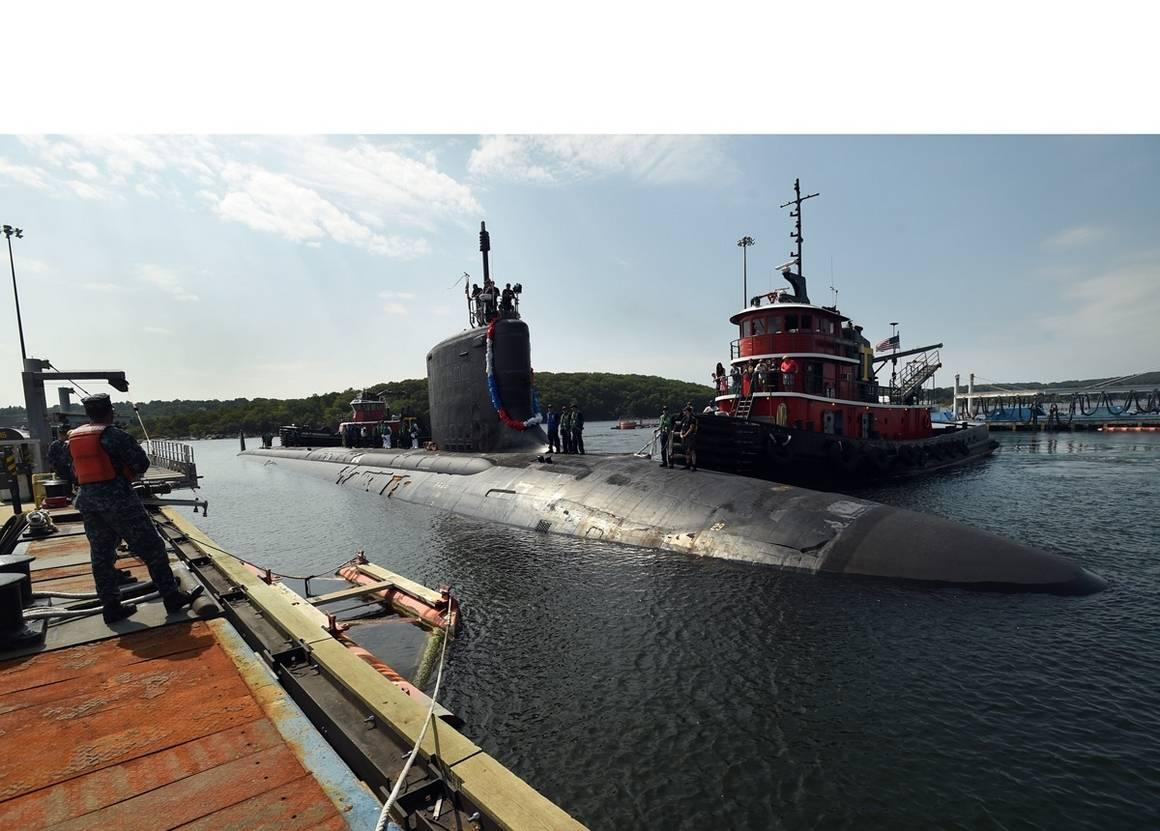 USS NEW MEXICO SSN-779 Einlaufen Groton am 04.09.2015 Bild: U.S. Navy