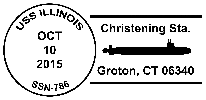 Sonderpoststempel USS ILLINOIS SSN-786 Christening Design: Wolfgang Hechler