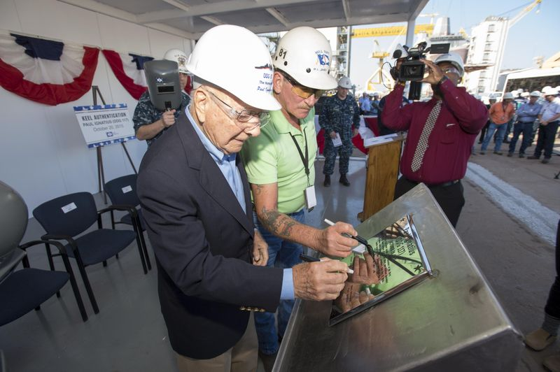 USS PAUL IGNATIUS DDG-117 Keel Laying Ceremony Bild: Huntington Ingalls Industries