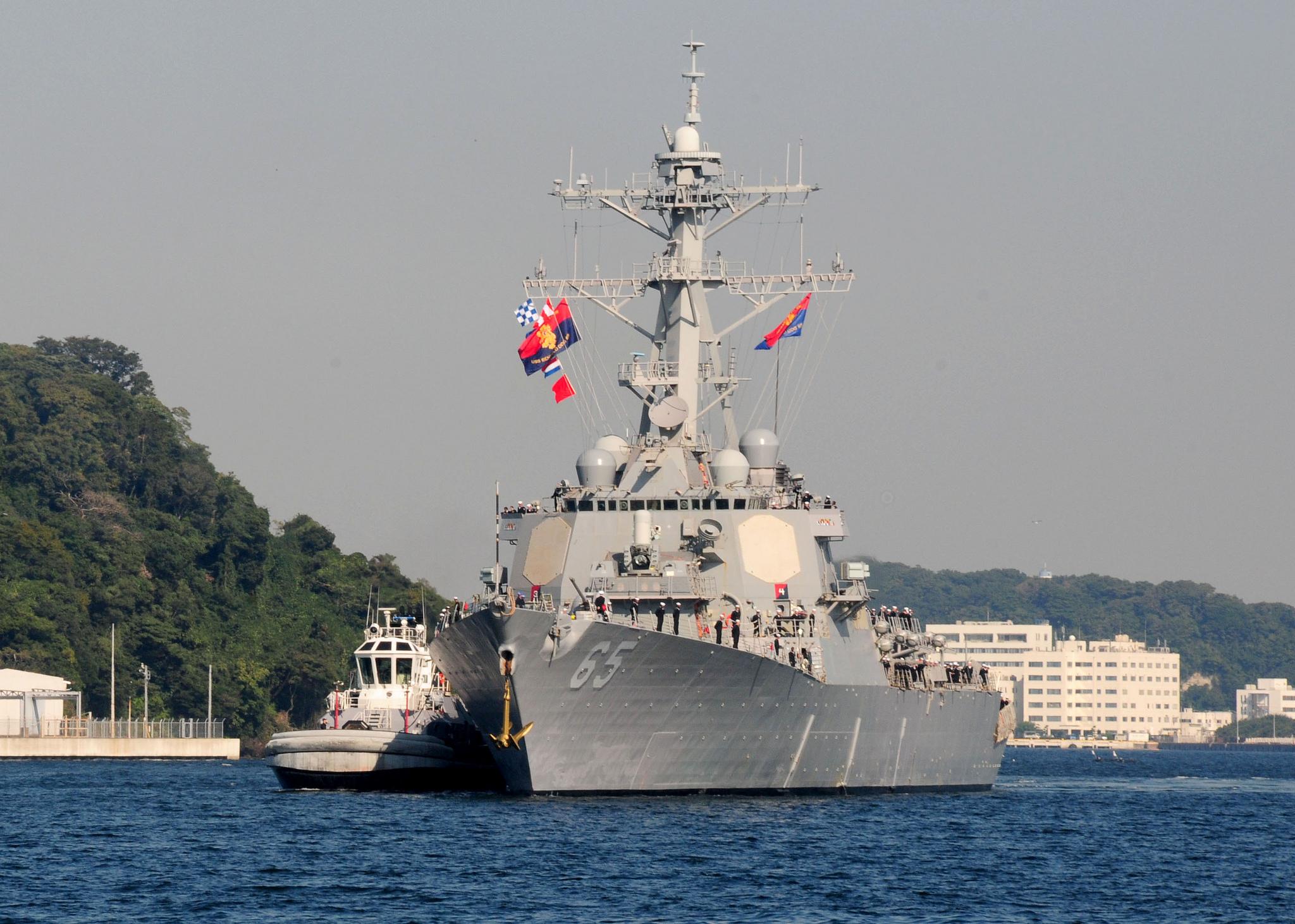 USS BENFOLD DDG-65 Einlaufen Yokosuka am 19.10.2015 Bild: U.S. Navy