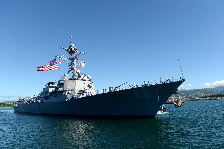 USS PREBLE DDG-88 Einlaufen Pearl Harbor am 23.10.2015 Bild: U.S. Navy
