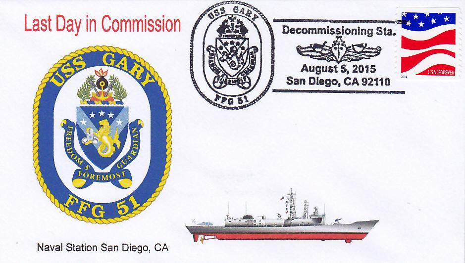 Beleg USS GARY FFG-51 Außerdienststellung