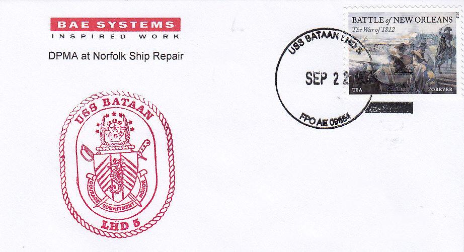 Beleg USS BATAAN LHD-5 vom 22.09.2015