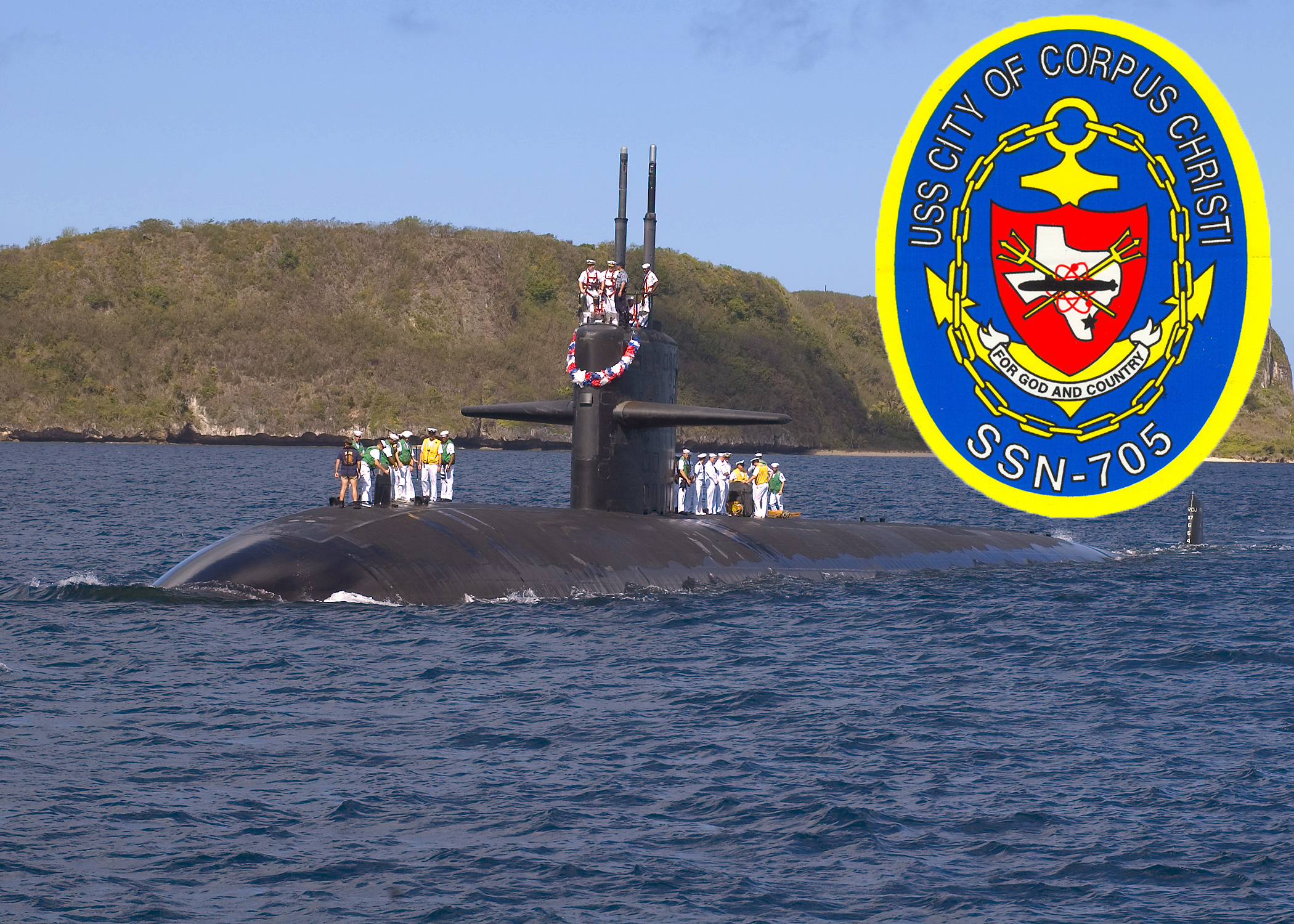 USS CITY OF CORPUS CHRISTI SSN-705 Bild und Grafik: U.S. Navy
