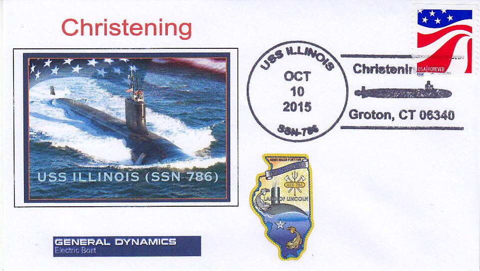 Beleg USS ILLINOIS SSN-786  Christening