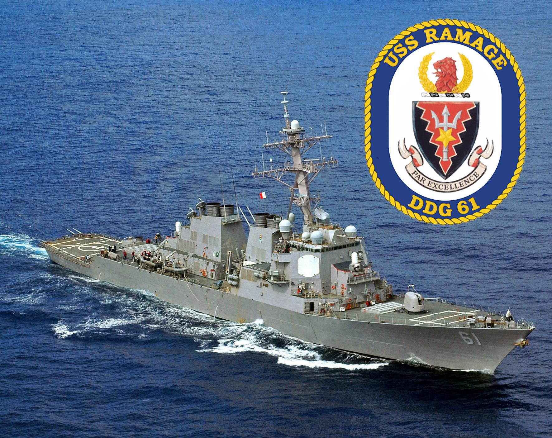 USS RAMAGE DDG-61  Bild und Grafik: U.S. Navy
