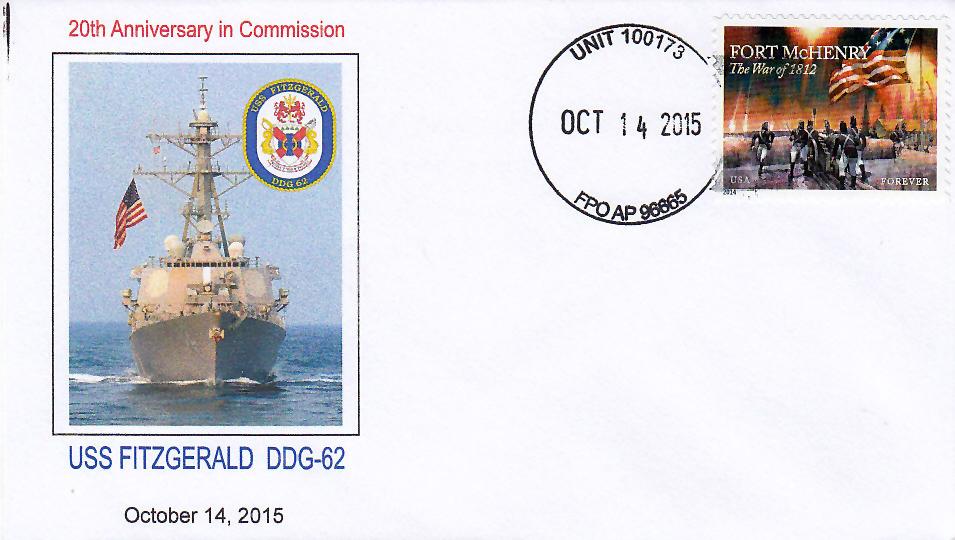 Beleg USS FITZGERALD DDG-62  20 Jahre im Dienst