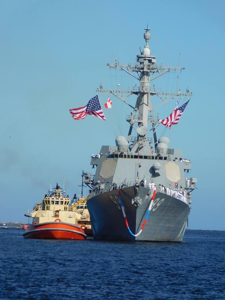 USS FARRAGUT DDG-99 Einlaufen Mayport am 07.11.2015 Bild: U.S. Navy
