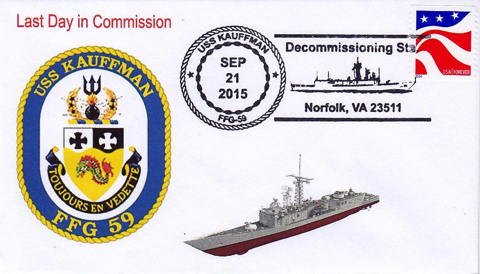 Beleg USS KAUFFMAN FFG-59  Außerdienststellung