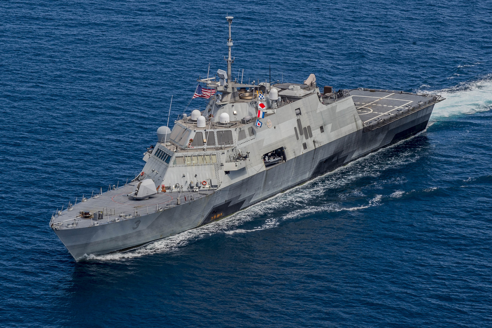 USS FORT WORTH LCS-3 am 19.08.2015 in der Sulu-See Bild: U.S. Navy