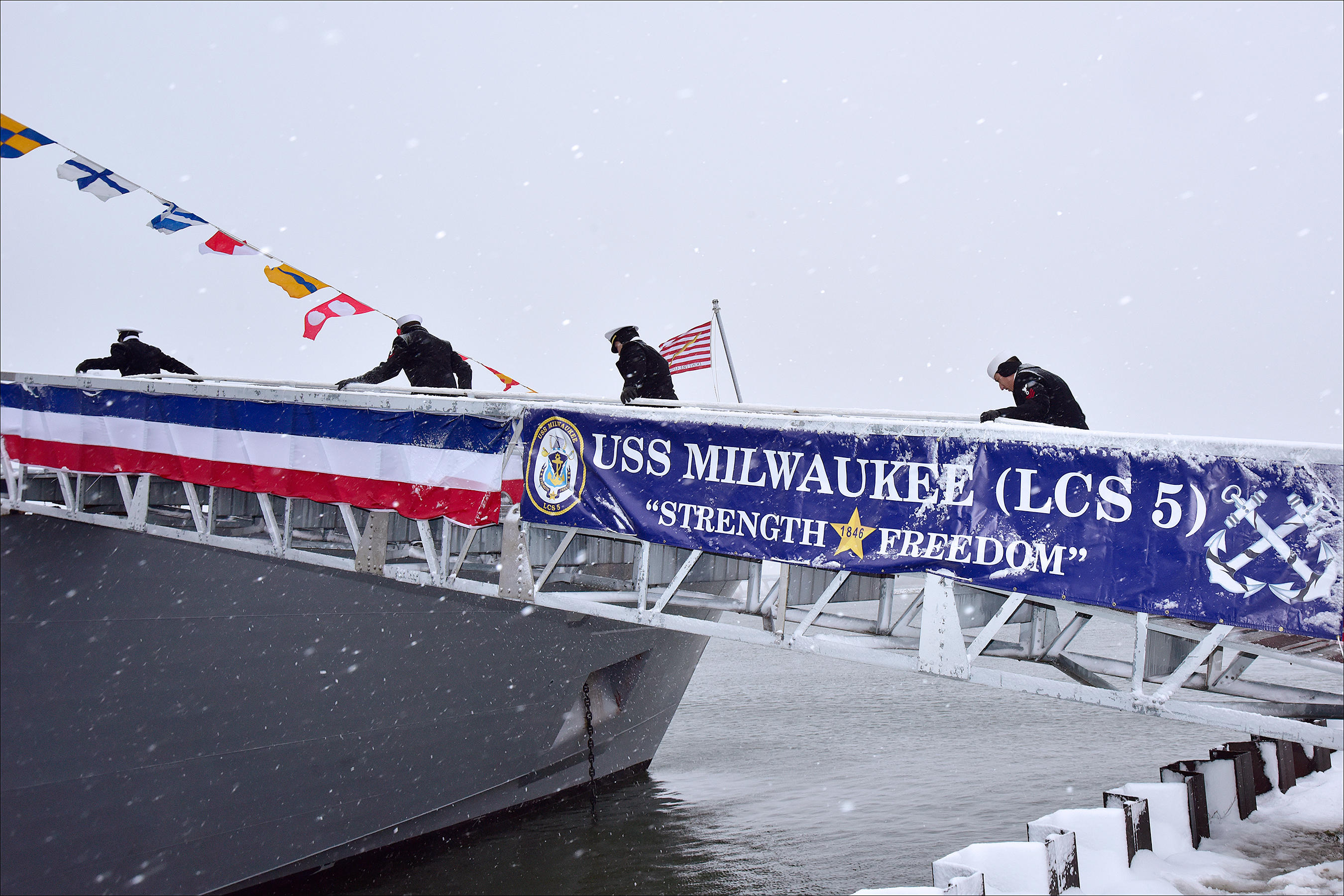 USS MILWAUKEE LCS-5 Indienststellung Bild: Lockheed Martin