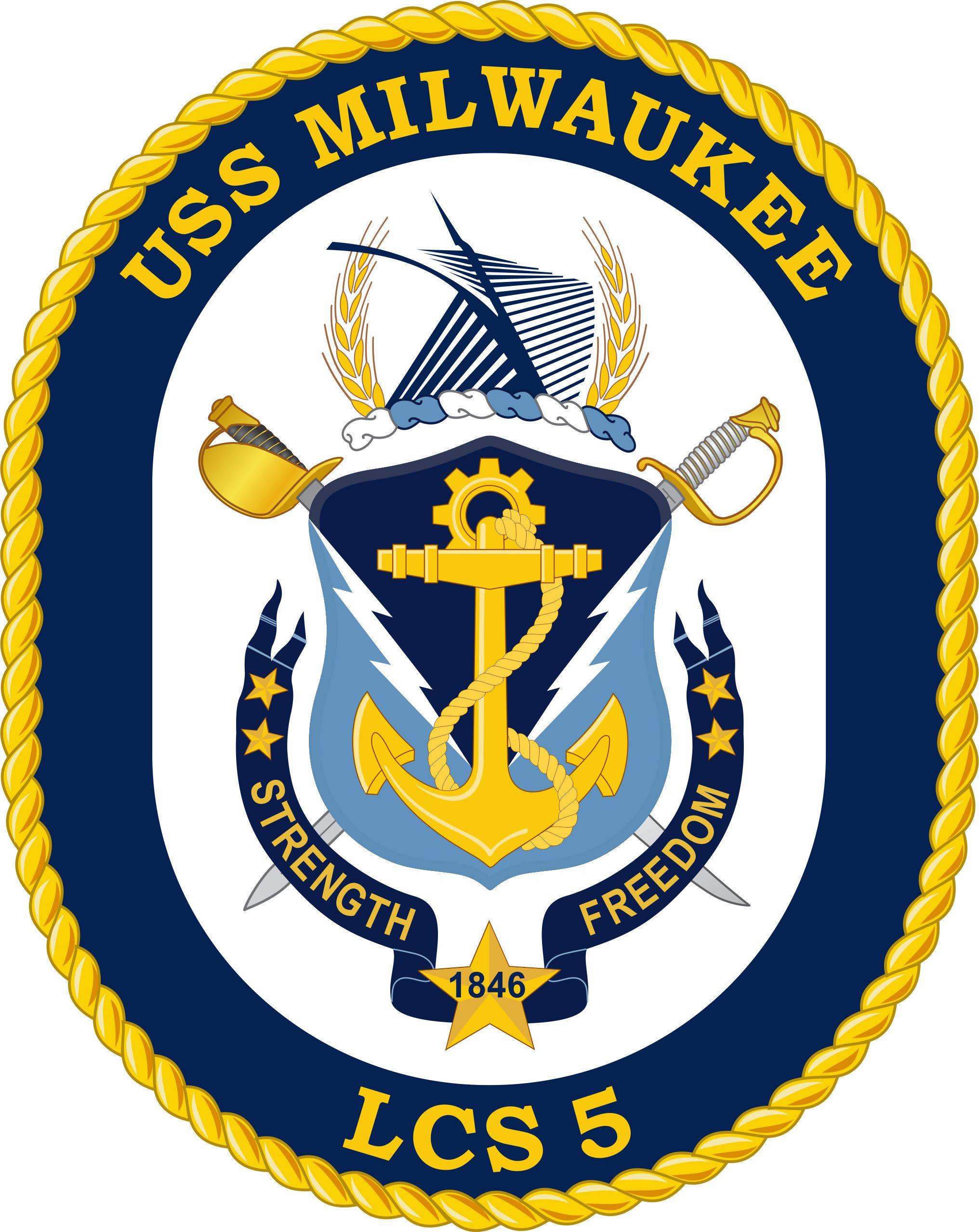 USS MILWAUKEE LCS-5 Crest Grafik: U.S. Navy