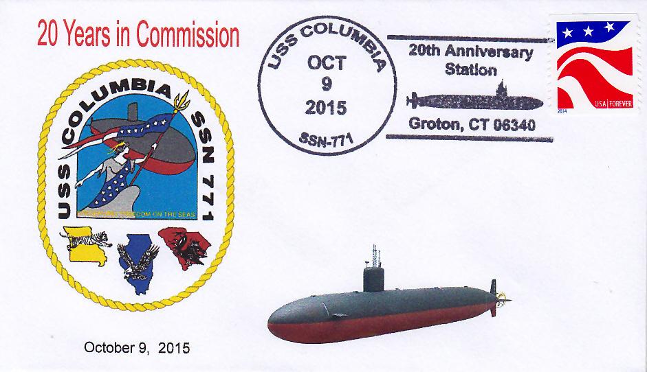 Beleg USS COLUMBIA SSN-771  20 Jahre im Dienst