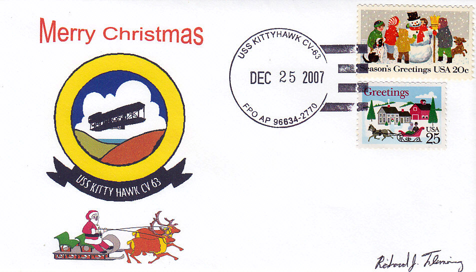 Beleg USS KITTY HAWK CV-63 Weihnachten 2007